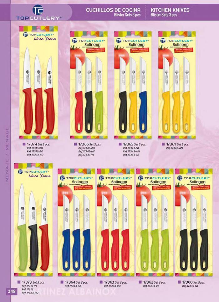 17374 cuchillos cocina topcutlery martinez albainox for Cuchilleria profesional cocina