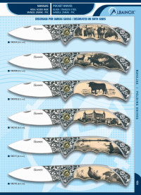 MARTINEZ ALBAINOX DECORATED ZAMAK POCKET KNIVES