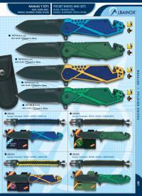 MARTINEZ ALBAINOX POCKET KNIVES RUBBER COATED HANDLE