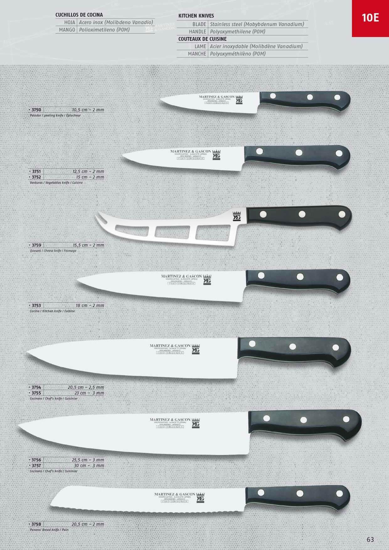 3758 cuchillos cocina martinez gascon menaje cocina - Cuchillos y menaje ...
