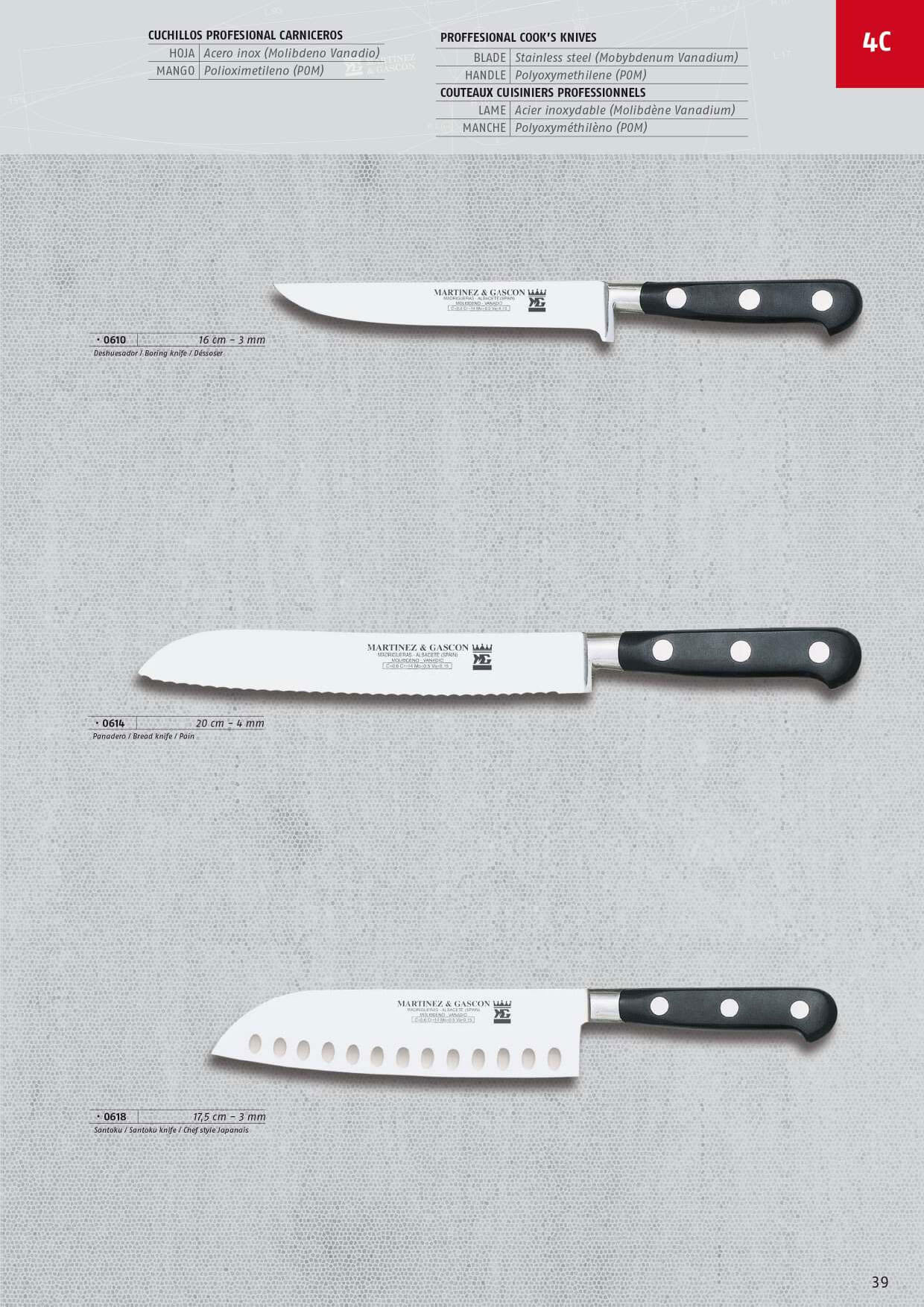 COOK KNIVES FORGED - Martinez & Gascon