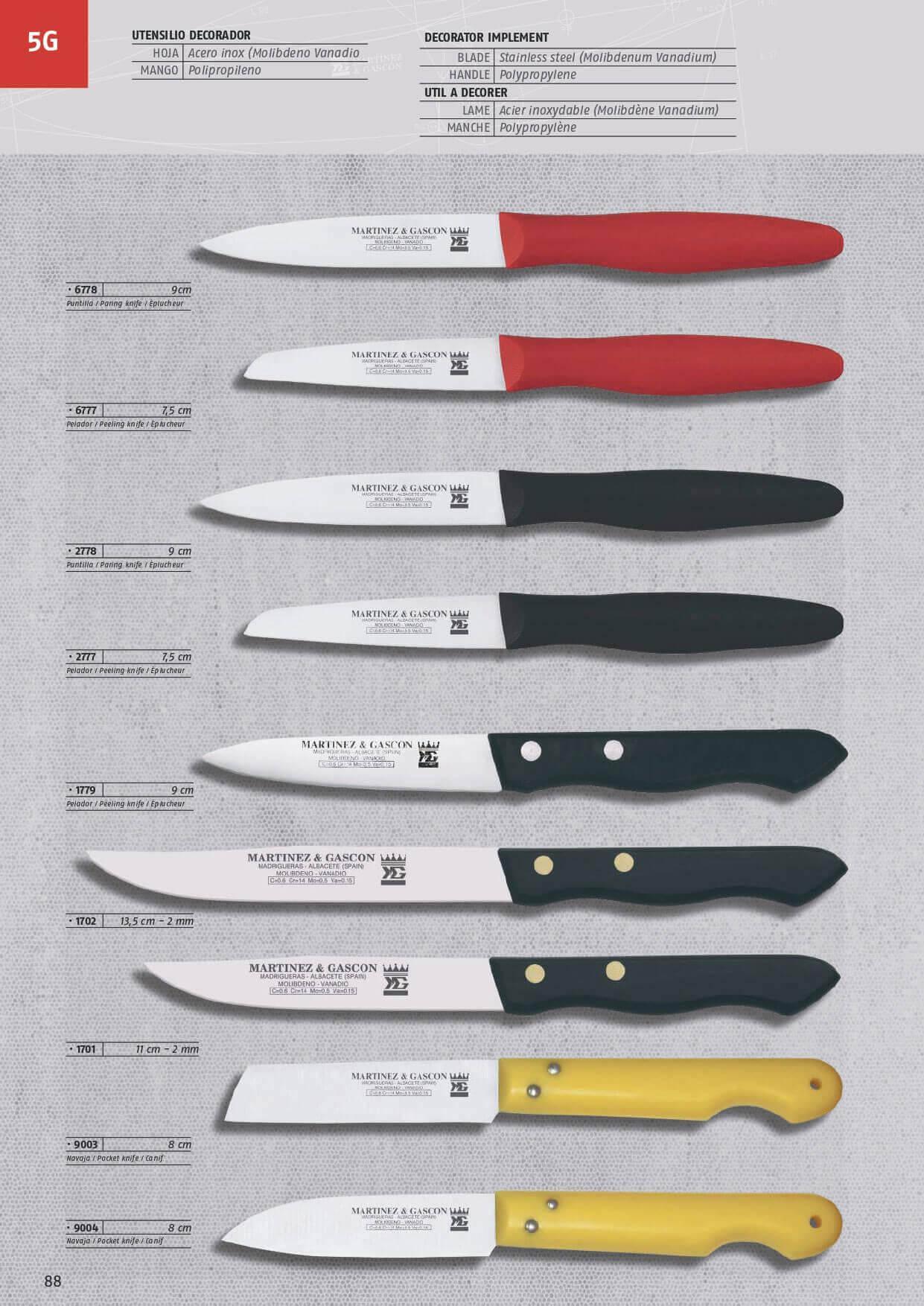 9731 cuchillos mesa martinez gascon menaje cocina - Cuchillos y menaje ...