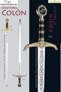 MARTO SWORDS CRISTOBAL COLON AND ROBIN HOOD