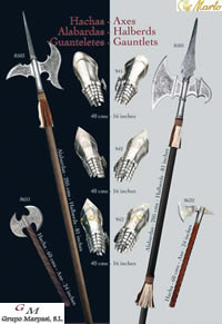 swords axes halberds AXES HALBERDS GAUNTLETS