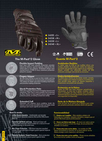 objects personal  GLOVES M-PACT 2 MECHANIX WEAR