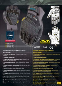 objetos personales vestimenta GUANTES WINTER IMPACT PRO MECHANIX WEAR