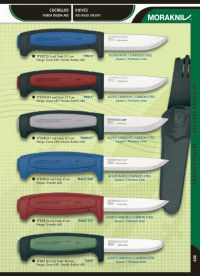 MORAKNIV STAINLESS STEEL AND CARBON KNIVES