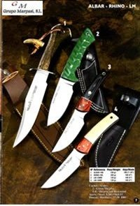 hunting knives mountain knives MUELA KNIFE ALBAR RHINO LM