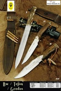 hunting knives  BW TEJON GREDOS KNIVES
