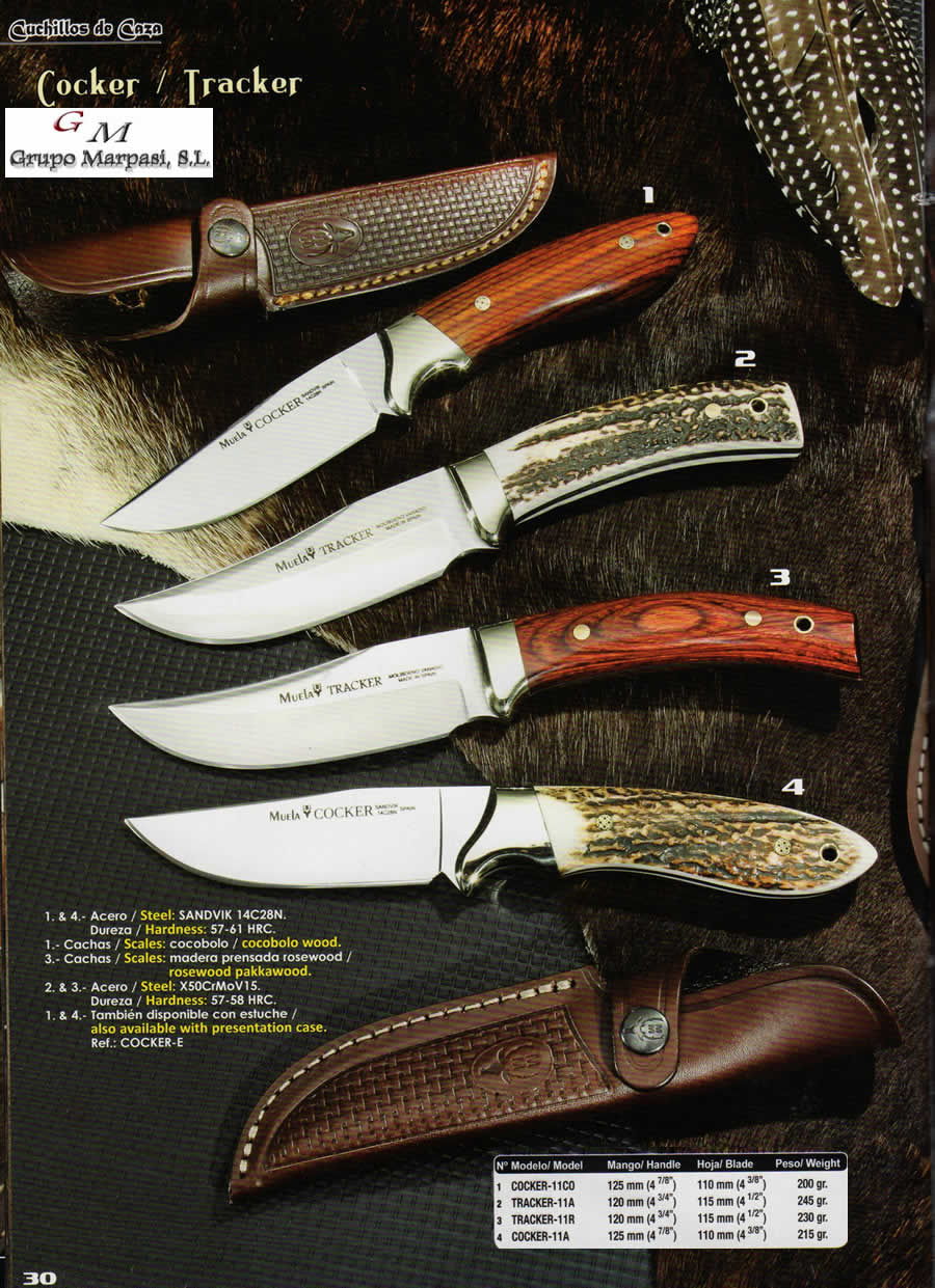 dc462fb9a2c COCKER TRACKER - hunting knives hunting knives - Muela - Wholesale ...