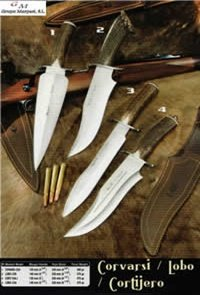 couteaux chasseurs couteaux de chasse COUTEAUX CHASSE COVARSI LOBO CORTIJERO