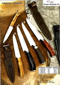 hunting knives mountain knives MUELA CRIOLLO GAUCHO KNIVES
