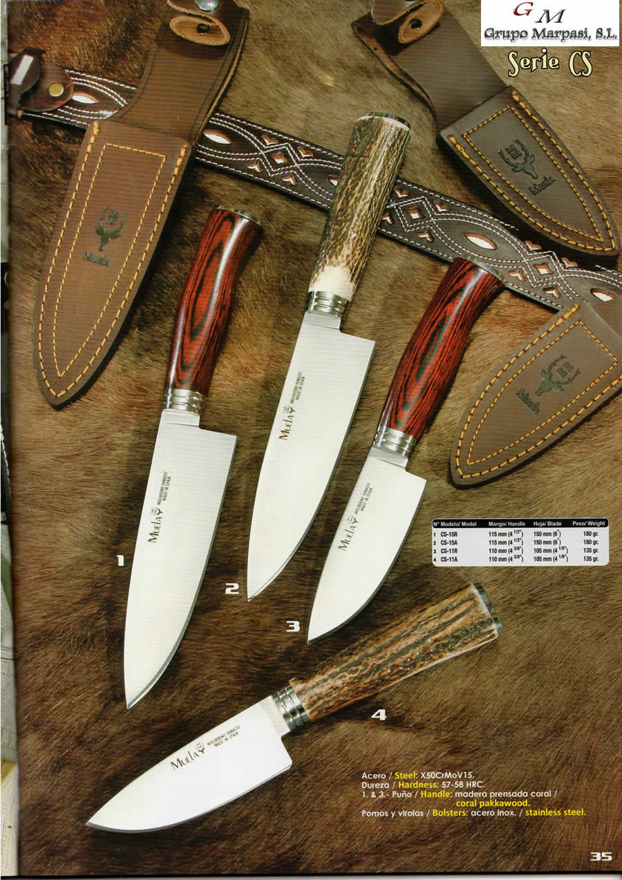 d3813fb1634 hunting knives hunting knives - HUNTING KNIVES MUELA CS - Muela - Cutlery