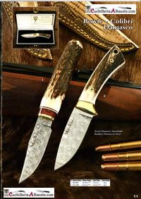 hunting knives artisans KNIVES MUELA BOWIE COLIBRI DAMASCUS