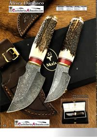 hunting knives hunting knives KNIVES MUELA AFRICA DAMASCUS