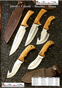 KNIVES JABALI CRIZZLY BISONTE SIOUX