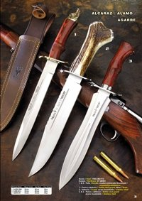 hunting knives  MUELA ALCAZAR ALAMO AND AGARRE