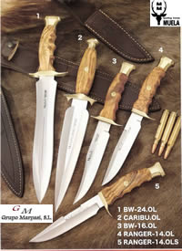 hunting knives  KNIVES MUELA RANGER CARIBU BOWIE