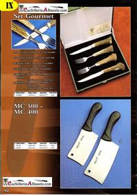 professional knives cook SET GOURMET MC