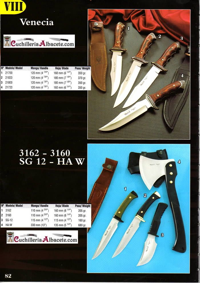 9be2dcfc80b HA-W - VENECIA 3162 3160 Muela - hunting knives mountain knives ...