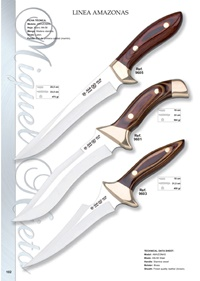 couteaux chasseurs LINEA AMAZONAS