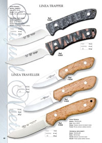 hunting knives  LINEA TRAPPER Y TRAVELLER