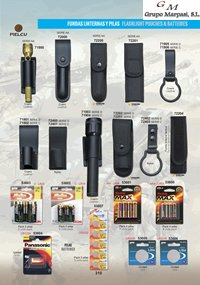 camping and survival  FLASHLIGHT POUCHES AND BATTERIES