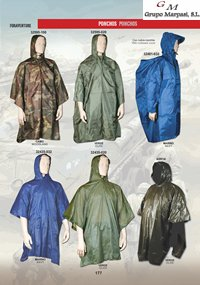 camping and survival  clothing PONCHOS