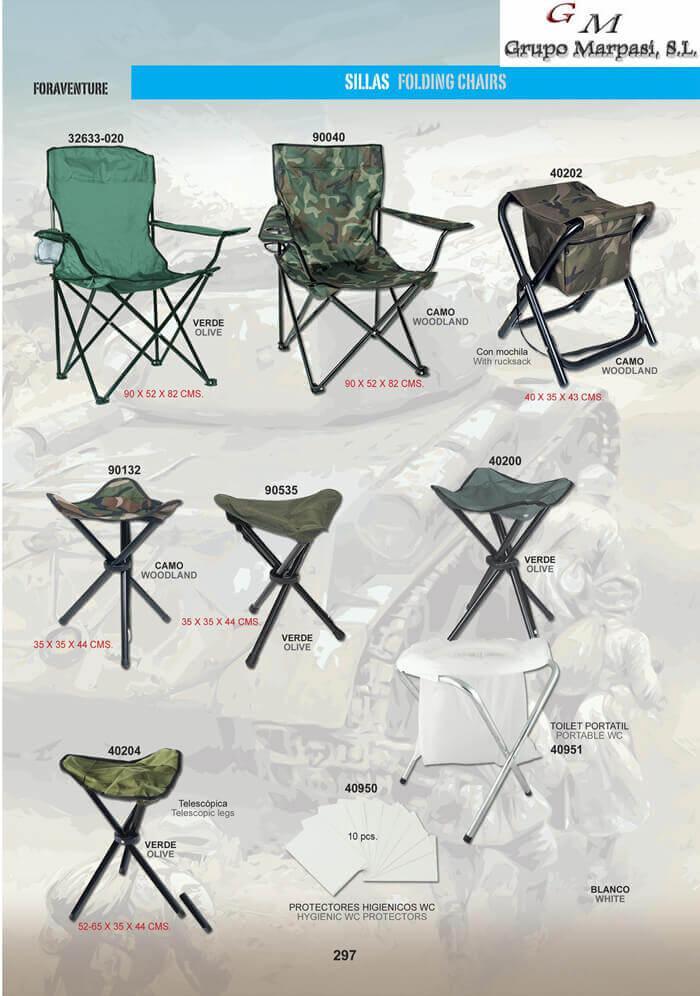 Camping y supervivencia equipamiento sillas plegables de - Sillas plegables de camping ...