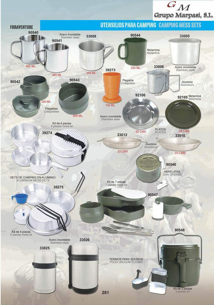 92106 utensilios para camping pielcu camping y for Utensilios y accesorios de cocina