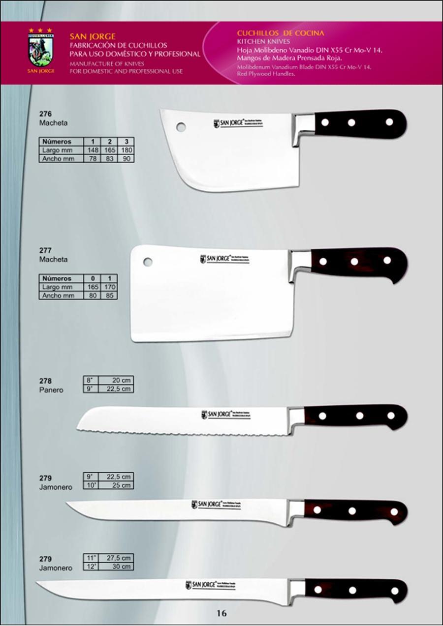 279 9 cuchillos cocina 11 san jorge cuchilleria for Cuchilleria profesional cocina