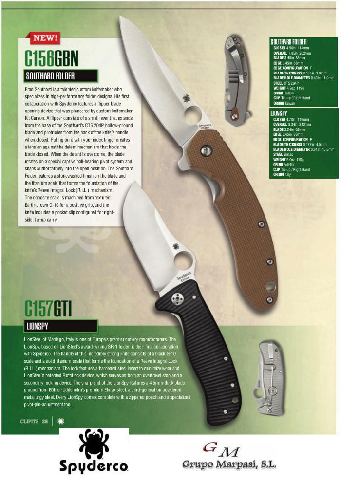 SOUTHARD & LIONSPY POCKET KNIVES Spyderco - pocketknives pocket