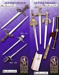SWORDS FROM TOLEDO ABRECARTAS