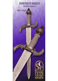 SWORDS FROM TOLEDO PUGNALE UCCELLI 191F