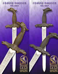 SWORDS FROM TOLEDO DAGA TRES AGUILAS 608