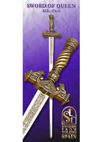 swords ESPADA CEREMONIAL DE REINA 174O