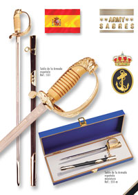 SWORDS FROM TOLEDO SPANISCHER MARINE SABEL
