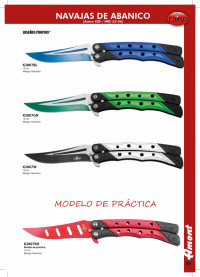 THIRD BUTTERFLY KNIVES OF ALUMINUM