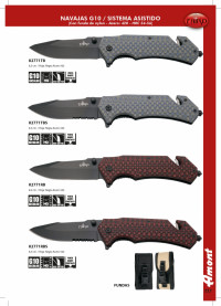 THIRD G10 FOLDING KNIVES WITH BELT CUTTER