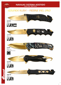 THIRD POCKET KNIVES GOLDEN RUSH