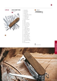 mehrzweck messer VICTORINOX SWISS CHAMP WOOD