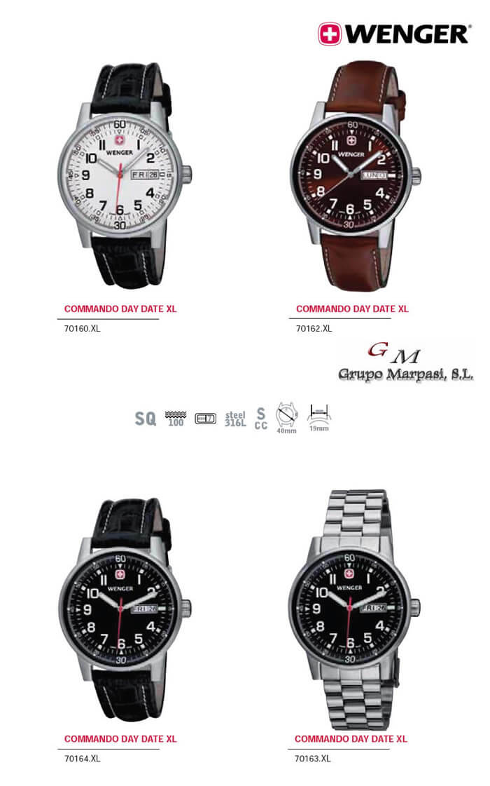 70164.XL - COMMANDO DAY DATE XL WATCHES WENGER - objects personal ... cec98821490
