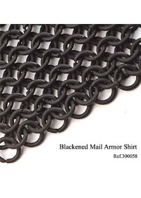 swords armours BLACKENED MAIL ARMOR SHIRT