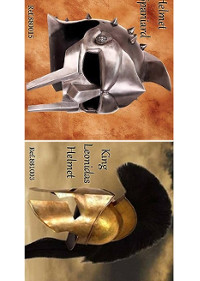 HELMETS SPANIARD AND LEONIDAS