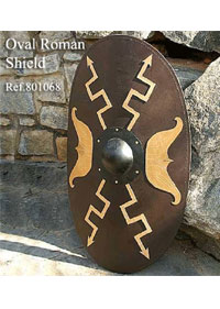 WINDLASS OVAL ROMAN SHIELD